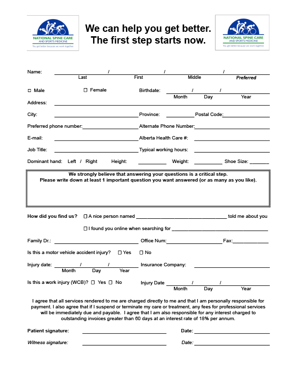 New patient form template vatozozdevelopment new patient form template maxwellsz