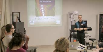 Dr. Gord McMorland Teaching Spine Boot Camp